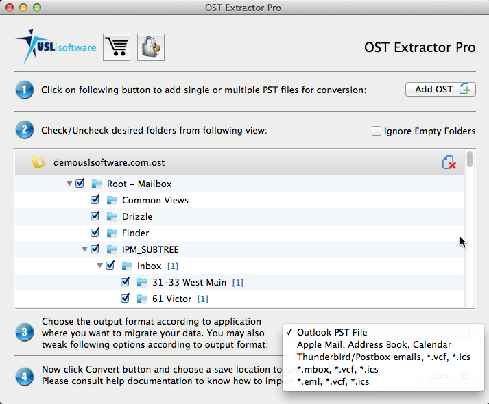 Convert OST to MBOX in Mac